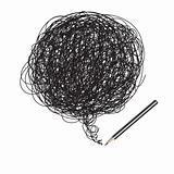 Pencil scribble random drawing
