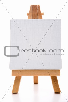 single white painting canvas