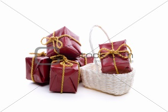 small red christmas presents