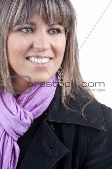 beautiful young girl fashion portrait