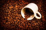 grunge background with coffee elements