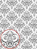 Red Damask Style Pattern