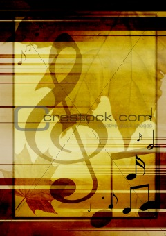 Background with musical symbols