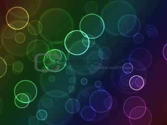 Bright colorful bokeh abstract circles