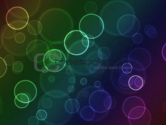Bright colorful bokeh abstract circles