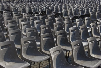 Grey chairs