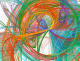 bursting abstract rainbow design
