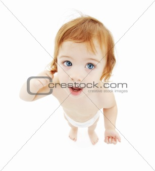 baby boy in diaper