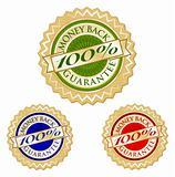 Set of Three 100% Money Back Guarantee Emblem Seals.
