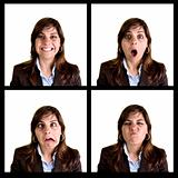 Collection of 4 businesswoman portraits - each photo has 3000px