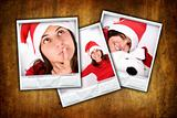 set of three photo frames with christmas images