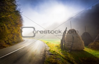 Fall country road