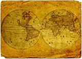 Vintage world map.