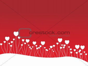 background with love plants, illustration