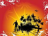 palm beach disco grunge background