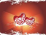 valentines shining heart, banner41