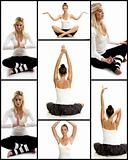 yoga and woman exercise