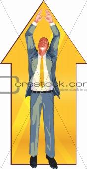 Business arrow (up)