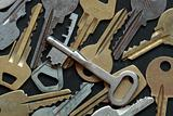 Old keys background