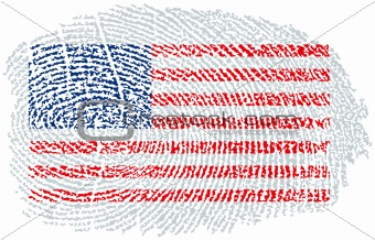 American Flag within a fingerprint