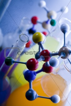 Molecular Model - Laboratory glass