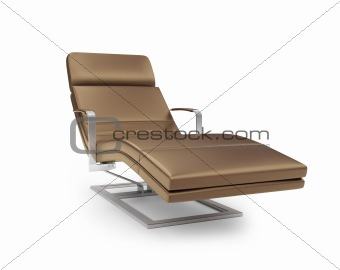 Chaise lounge against white