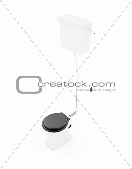 Toilet against white