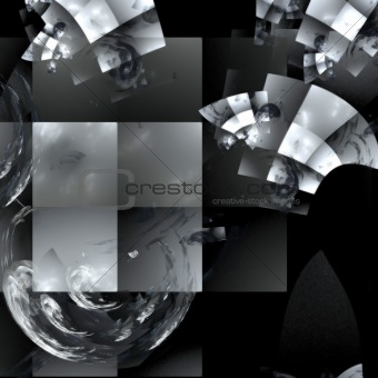 Abstract background. Black-and-white palette.
