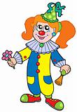 Cartoon clown girl