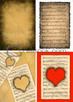 Four background images in vintage style