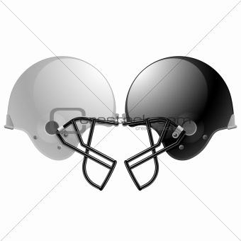 Football helmets. Vector.