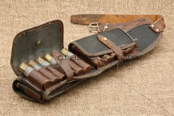 Old hunting bandolier