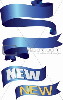 Blue Ribbon banners and flashes NEW