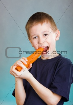 Boy with carrot