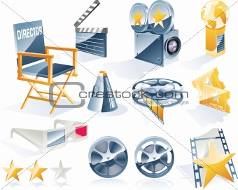 Vector detailed movie icon set
