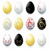 Easter eggs collection for your design