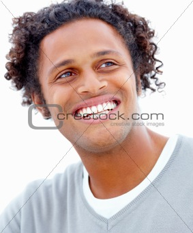 Closeup of a smiling young businessman