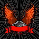 grunge wings audio banner