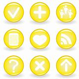 Set of green web icons for your design