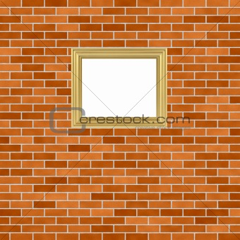 Frame on brickwall