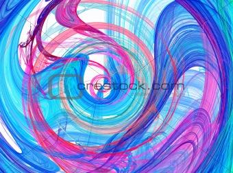Blue spiral design