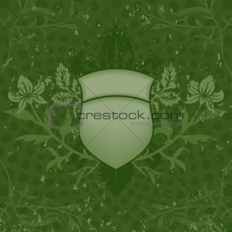 Green Grunge Shield