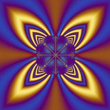 Four Leaf Fractal in Blue & Yellow