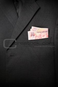 Business Suit Up-Close