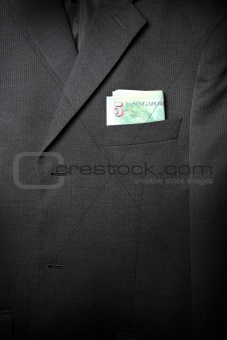 Business Suit Up-Close