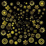 abstract background with gearwheels