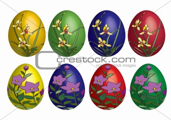 floral deco easter eggs
