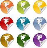 Americas round sticker