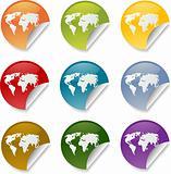 World sticker round