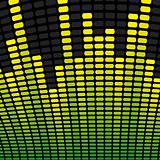 Green and Yellow Music Equalizer Background